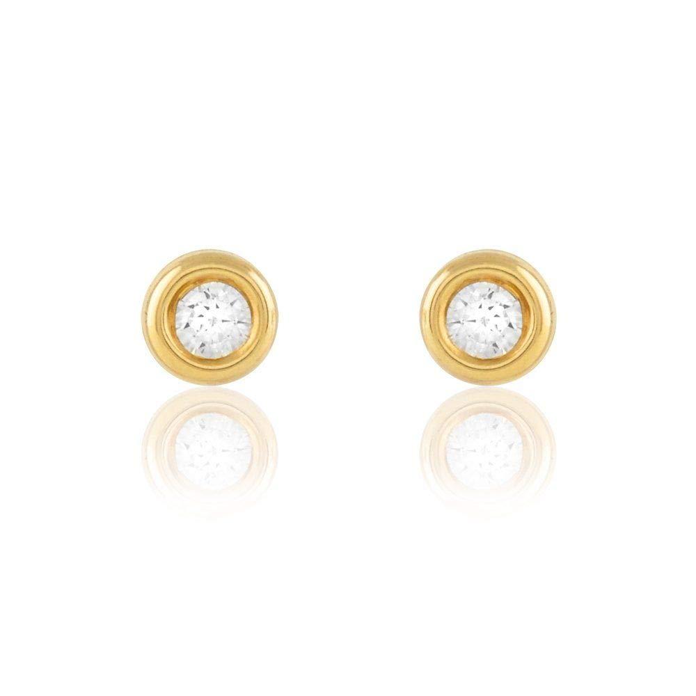 Stroili or boucles d'oreilles en or jaune et zirconium referenza 1401775