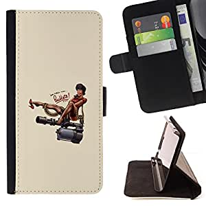 DEVIL CASE - FOR HTC Desire 820 - Russia Caricature Parody Woman Quote - Style PU Leather Case Wallet Flip Stand Flap Closure Cover