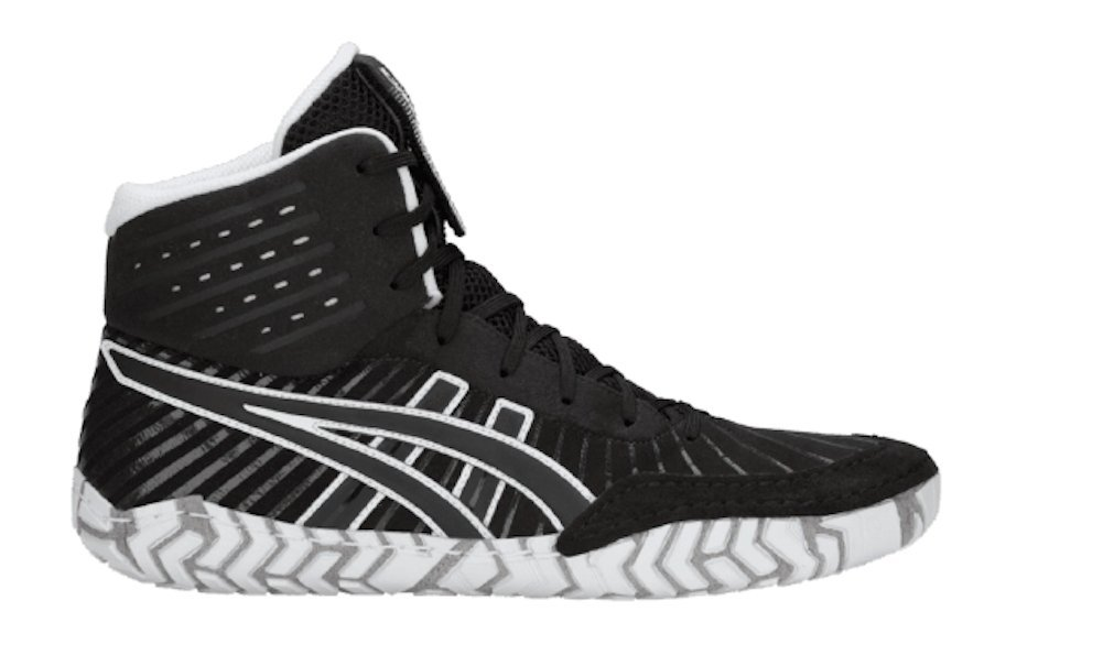 ASICS Aggressor 4 Men's Wrestling Shoes, Black/Black, Size 5