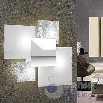 Applique grande lampada parete muro 46x42 design moderno elegante ...