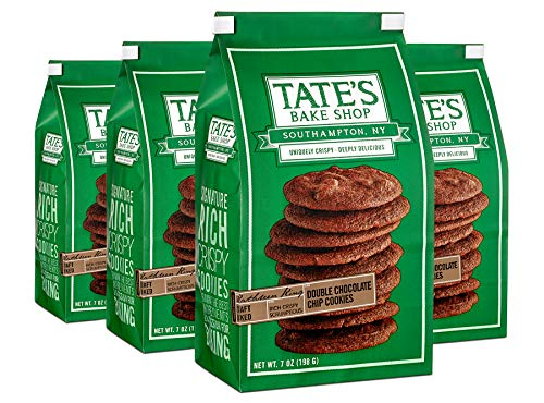 Tate's Bake Shop Thin & Crispy Cookies, Double Chocolate Chip, 7 Oz, 4Count (Best Homemade Chocolate Chip Cookies)