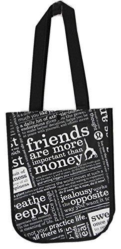 Lululemon Black Manifesto Small Reusable Tote Carryall Gym Bag