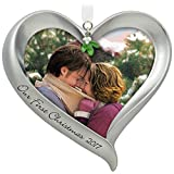 Hallmark First Christmas Heart Picture Frame 2017 Xmas Ornament Deal (Small Image)