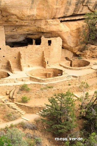 Mesa Verde: National Parks of The United States, National Park In Colorado| 6'' X 9'' Lined Notebook| Work Book, Planner, Journal, Diary 120 Pages