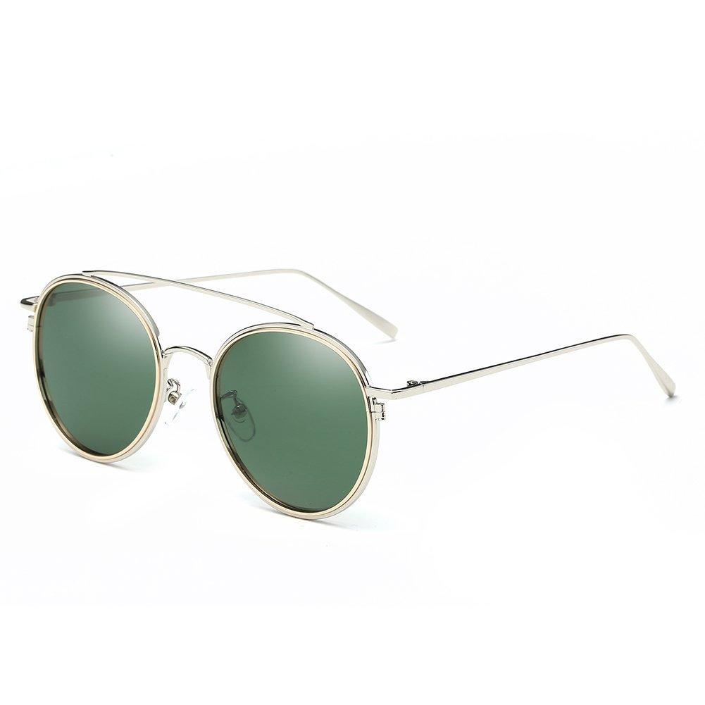 Retro Vintage Sonnenbrille Metallrahmen Anti-UV polarisiert Sonnenbrille für Frauen und Männer-Brillen trends 2017 (Ozean Farbe) Rwc8AXm4
