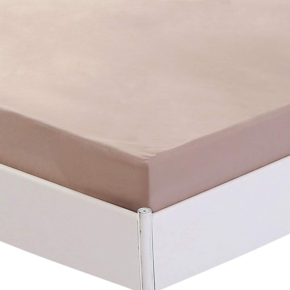 Vinyl Free 100/% Microfiber Waterproof Bed Sheets Full Size of Khaki Homaxy Waterproof Mattress Protectors Premium Breathable Hypoallergenic Fitted Sheet Only