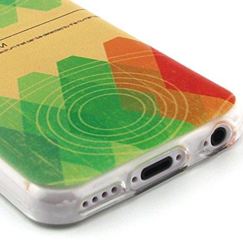 Fashion Coque pour Apple iphone 5c, Crystal Housse en Soft TPU Gel Silicone pour iphone 5c, iphone 5c Flexible Souple Cas Back Case Cover de Protection, Ultra Slim Créatif Dessin Couleur Motif de Colo
