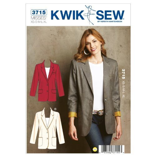 Kwik Sew K3715 Blazers Sewing Pattern, Size XS-S-M-L-XL by KWIK-SEW PATTERNS by KWIK-SEW PATTERNS