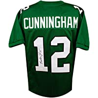 $139 » Randall Cunningham Autographed Eagles Custom Green Football Jersey - JSA COA (B)