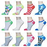 AirStep Women's No Show Athletic Socks - 12 Pack Multi Sock Size 9-11. Fits Shoe Size 4-10.