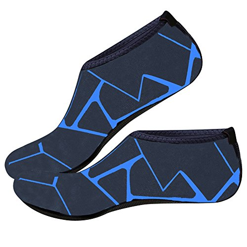 Exercice de Yoga Barefoot Aqua la Peau Merssavo Natation Surf Chaussures pour Chaussures L Peau Unisexe Chaussures de Plage Bleu qnZ64AOZ