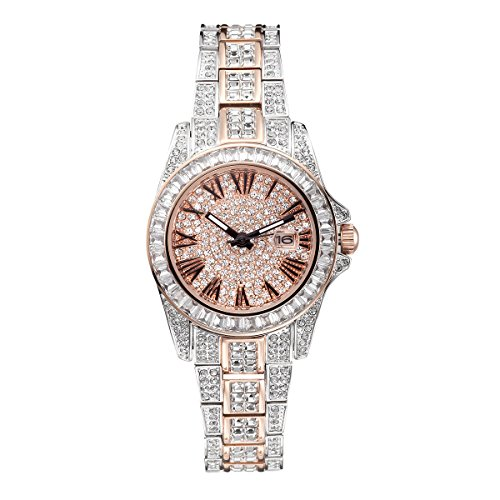 - Princess Butterfly Austria Crystal Pave Dial Crystal Encrusted Bling Womens Watch reloj de Mujer