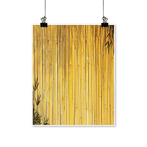 Hanging Painting Tall Bamboo Stems and Leaves Oriental Nature Wood Image Natural Zen Asian Wildlife Rich in Color,24