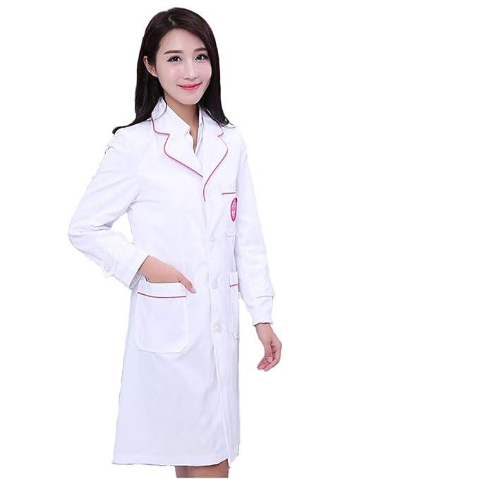 ESENHUANG Batas Blancas Doctor Ropa De Manga Larga Ropa De Belleza Modelos Delgados: Amazon.es: Ropa y accesorios