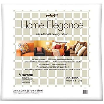 Fairfield Home Elegance Pillow, 14 by 14-Inch Fairfield Processing XP14S