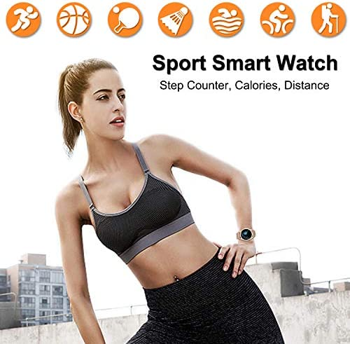 Yocuby Smart Watch for Women,Bluetooth Fitness Tracker Compatible with iOS,Android Phone, Sport Activity Tracker with Sleep/Heart Rate Monitor, Calorie Counter 51lfjCIn qL