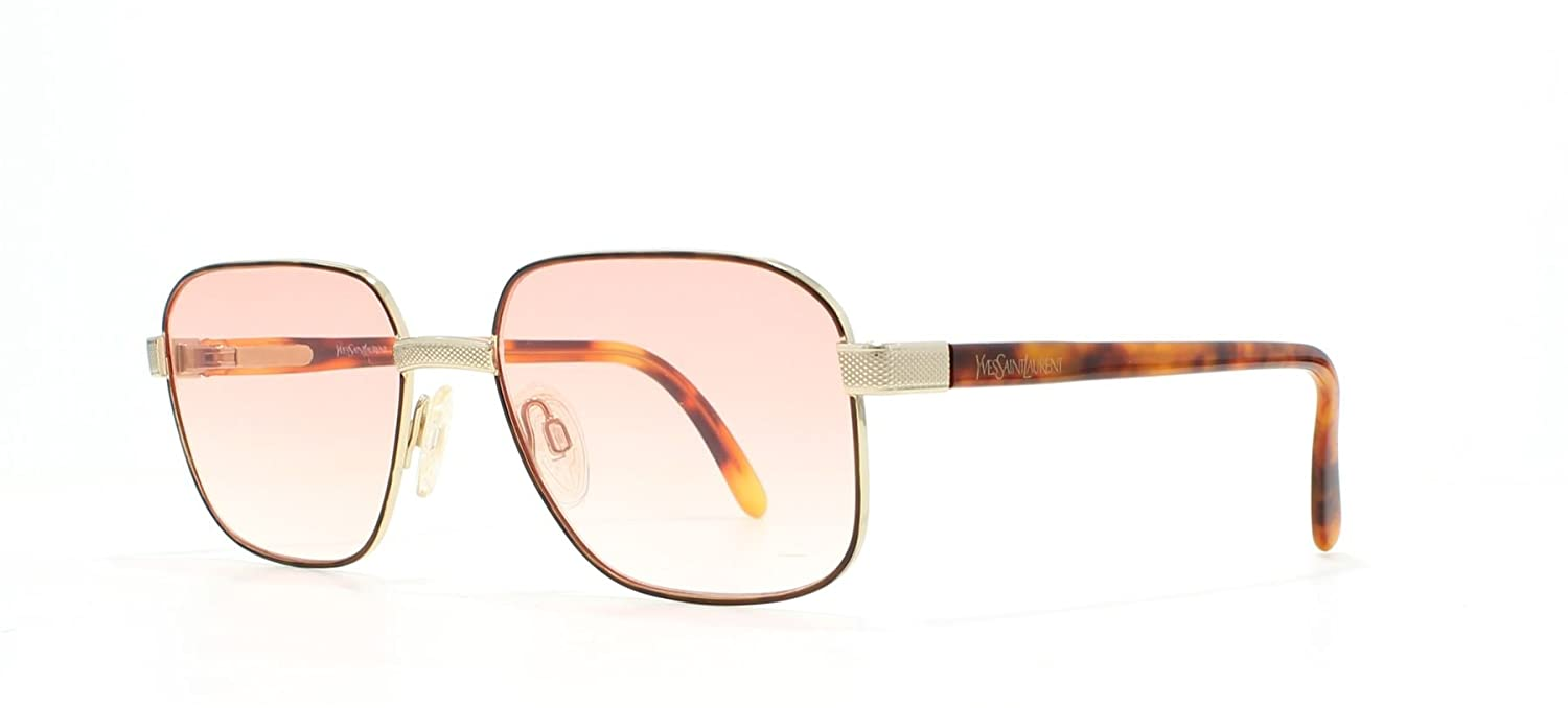 YSL 4032 Y125 Brown Vintage Sunglasses Square For Men and Women