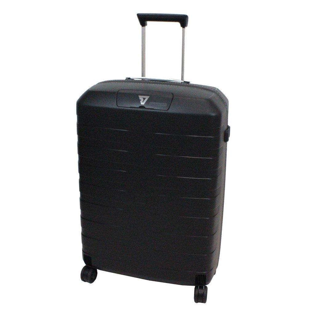 [ロンカート] RONCATO BOX イタリア製 超軽量スーツケース 64cm 67L 2.9kg 耐水ファスナー 双輪キャスター[5512] B01CZI58EC ブラック/ホワイト ブラック/ホワイト