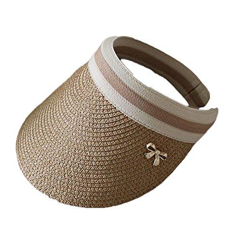 Zhou Yunshan Temporada de Primavera y Verano Sombrero de Paja Bowknot Lady Holiday Sun Hat.