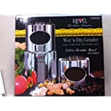 Revel CCM101CP Chrome Wet and Dry Coffee/Spice/Chutney Grinder with Extra Cup, 110-volt