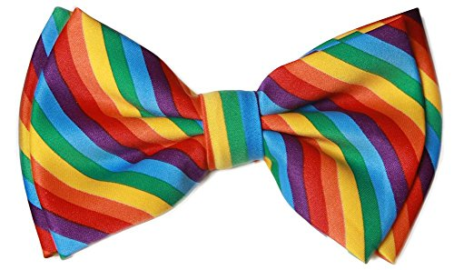 Pre-tied Bow Tie in Coool Brand Gift Box- Rainbow -