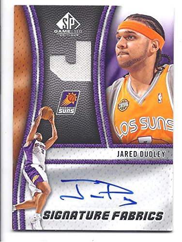 JARED DUDLEY 2009-10 SP Game Used Edition Signature Fabrics #SFJY AUTOGRAPH Game-used JERSEY Card Phoenix Suns Basketball