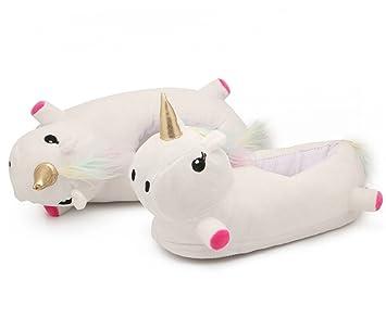 Katara 1783 - Zapatillas de Felpa Unicornio Mágico - Pantuflas Deslizantes Invierno - Talla unica: EU 36-44, Arco Iris: Amazon.es: Juguetes y juegos