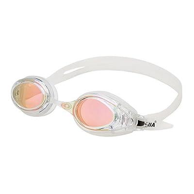 Équipement de lunettes de natation professionnel plaqué lunettes de natation lumière plate étanche lunettes anti-buée unisexe