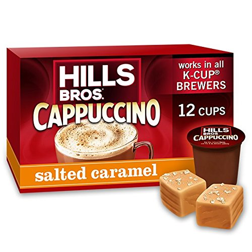 Hills Bros Salted Caramel Cappuccino Single Serve Cups, 12 Count