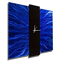Jon Allen Metal Art Large 24 Inch Decorative Wall Clock, Contemporary Modern Metal Wall Art, Royal Mechanism