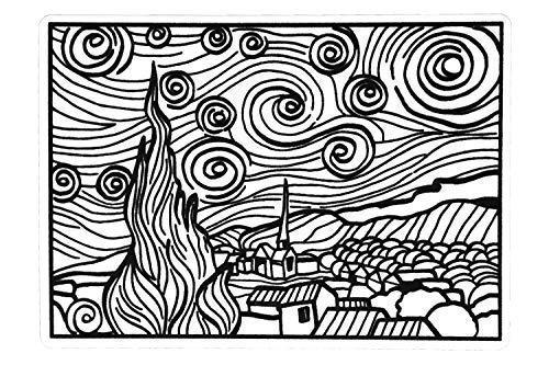 Colorvelvet Disegno Van Gogh Notte Stellata 21 X 29 7 Small20 Amazon It Commercio Industria E Scienza