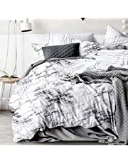Marble Quilt Cover Set - All Size Bed Ultra Soft Quilt Duvet Doona Cover Set with Pillowcase (Queen)