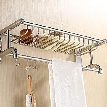 Badezimmer Rechteckige Wandregal,Edelstahl Handtuchhalter ...
