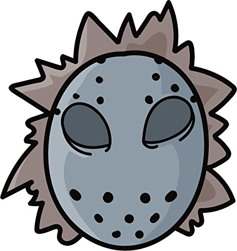 Simple Halloween Hockey Mask Cartoon Doodle Vinyl Decal Sticker (8