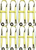 BA Products Wheel Lift Strap (8) 2'' Flat Hook 2 piece Quick Pick Strap #38-JD5 x 8 Jerr-Dan