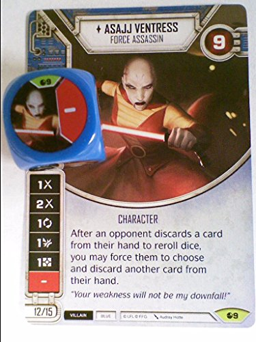 Star Wars Destiny Spirit of Rebellion [B] (Rare) Asajj Ventress - Force Assassin Card #9 & - Stores Destiny Usa