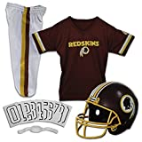 Franklin Sports Deluxe NFL-Style Youth Uniform – NFL Kids Helmet, Jersey, Pants, Chinstrap and Iron on Numbers Included – Football Costume for Boys and Girls, Washington Redskins, Large