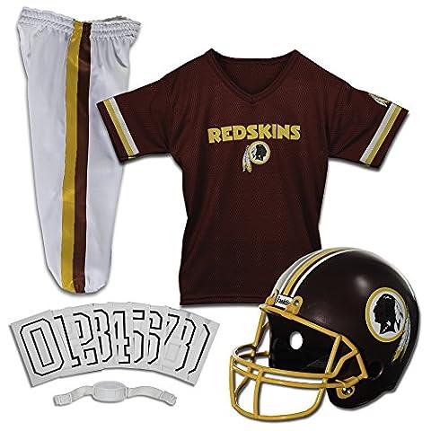 Franklin Sports NFL Washington Redskins Deluxe Youth Uniform Set, Small (Nfl Helmets Kids)