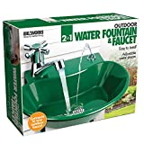 2-in-1 Outdoor Water Fountain and Faucet