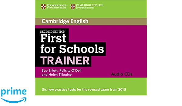 cambridge first trainer  First for Schools Trainer Audio CDs (3) (Cambridge English): Sue ...