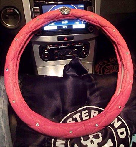 KRISMILEN Coche volante cubierta diamante celosía niñas negro rosa rojo rosa Universal Fit 38cm , Rose Red