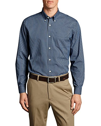 Eddie Bauer Men's Wrinkle-Free Classic Fit Pinpoint Oxford Shirt - Blues, Deep S Button Down Pinpoint Oxford Shirt