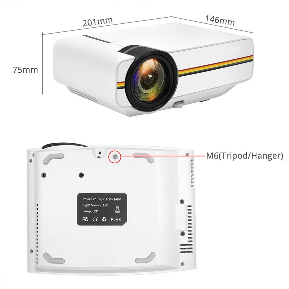 YSCCSY Pantalla de sincronización con Cable del Mini proyector ...