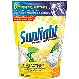 Sunlight Lemon Fresh Oxi-Action Dishwasher, 20 Uses, 20 Count