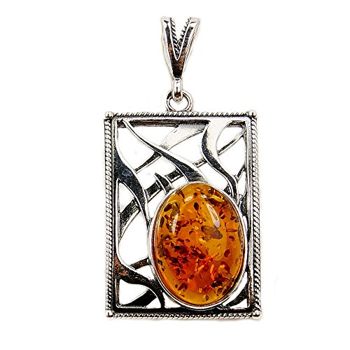 - Gorgeous Sterling Silver Natural Baltic Amber Pendant