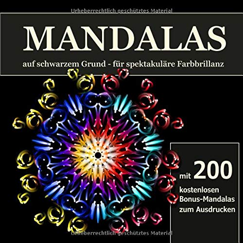 Mandalas Auf Schwarzem Grund Fur Spektakulare Farbbillanz