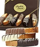 Biscotti is an Italian classic, and this biscotti is extra special because each piece is hand dipped in Belgian Chocolate. They are an absolute treat and are sure to make their day extra special. The gift basket is delivered with twelve bisco...