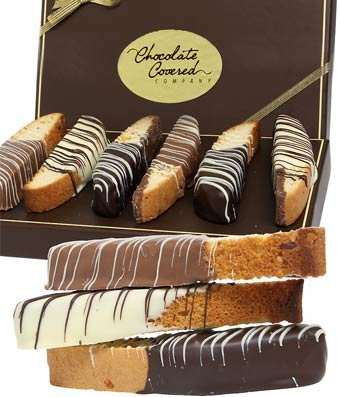 From You Flowers - Belgian Chocolate Dipped Biscotti Assortment - 12 Pieces
