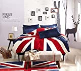 England Blue English Flag Bedding Modern