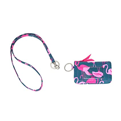 e2b9a075ff1a Leanoria Fashion Badge Holder with Lanyard for Office and School ID Card  Case Wallet for Womens (Pink Bird)